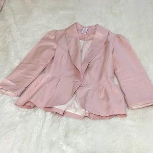 Baby pink blazer NWOT